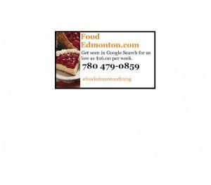 food edmonton business card